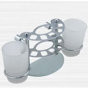 Держатель зубных щеток и пасты со стаканом RainBowL Aqua к стене (стекло) (0039-4)
