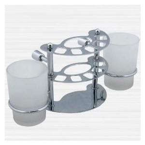 Держатель зубных щеток и пасты со стаканом RainBowL Aqua к стене (хром) (0039-3) цены онлайн