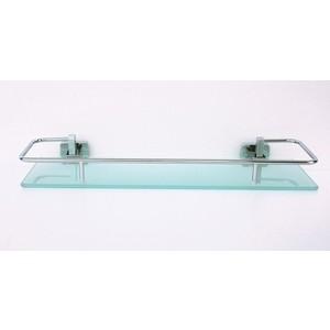 Полка стеклянная RainBowL Cube 40 см с ограничителем (2753-3)
