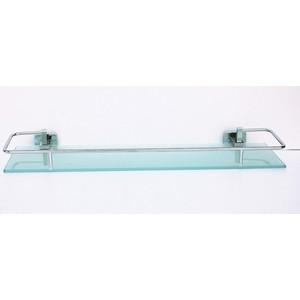 Полка стеклянная RainBowL Cube 50 см с ограничителем (2753-1)