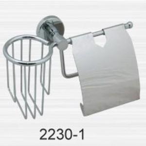 Держатель туалетной бумаги и освежителя RainBowL Long с крышкой (2230-1)