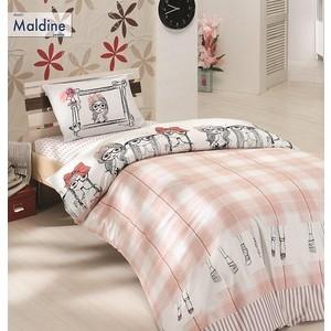 Комплект постельного белья Altinbasak 1,5 сп, ранфорс, Maldine розовый (298/17/CHAR001)