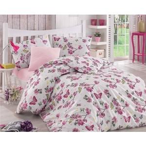 цена Комплект постельного белья Altinbasak 1,5 сп, ранфорс, Butterfle фуксия (298/39/CHAR003) онлайн в 2017 году