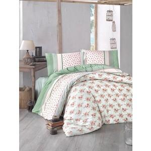 Комплект постельного белья Altinbasak Евро, ранфорс, Ahsen зеленый (297/1/CHAR002)