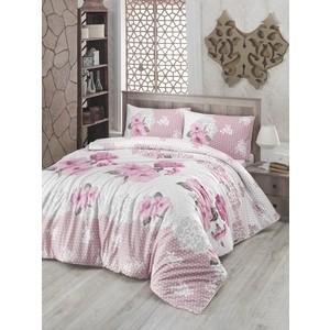 Комплект постельного белья Altinbasak Евро, ранфорс, Guldem розовый (297/17/CHAR002) цены