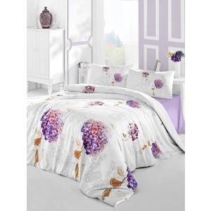 цена Комплект постельного белья Altinbasak Евро, ранфорс, Hidra фиолетовый (297/19/CHAR002) онлайн в 2017 году