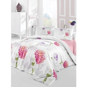 купить Комплект постельного белья Altinbasak Евро, ранфорс, Hidra розовый (297/19/CHAR001) дешево