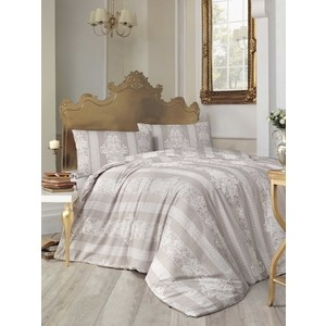Комплект постельного белья Altinbasak Евро, ранфорс, Nobby коричневый (297/30/CHAR002) цены