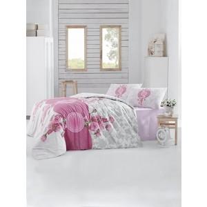 Комплект постельного белья Altinbasak Евро, ранфорс, Rosen розовый (297/33/CHAR002)