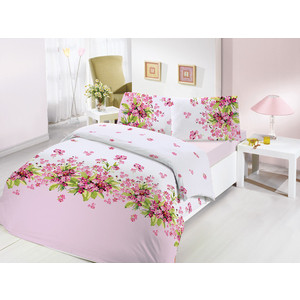 Комплект постельного белья Altinbasak Евро, ранфорс, Sumbul розовый (297/36/CHAR001) комплект постельного белья altinbasak евро ранфорс ulya розовый 297 37 char001