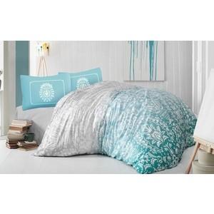 Комплект постельного белья Altinbasak Евро, ранфорс, Vizyon бирюзовый (297/39/CHAR001)