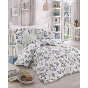 цена Комплект постельного белья Altinbasak Евро, ранфорс, Butterfle голубой (297/57/CHAR002) онлайн в 2017 году