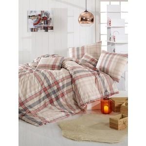 Комплект постельного белья Altinbasak Евро, ранфорс, Aliz коричневый (297/62/CHAR002)
