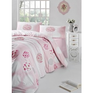 Комплект постельного белья Altinbasak Евро, ранфорс, Belin розовый (297/7/CHAR002)