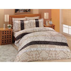 Комплект постельного белья Altinbasak 2-х сп, сатин, Classico коричневый (255/2/5 /CHAR002) комплект постельного белья le vele 2 х сп сатин bali 746 1