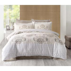 Комплект постельного белья Altinbasak Евро, сатин, Sayka кремовый (256/21/CHAR001)