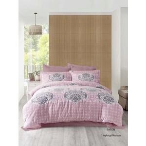 Комплект постельного белья Altinbasak Евро, сатин, Sayka грязно-розовый (256/21/CHAR003)