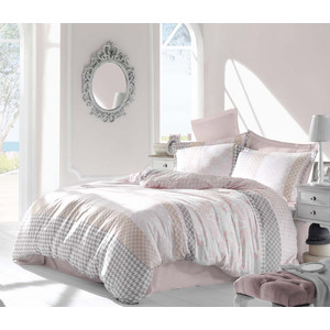 Комплект постельного белья Altinbasak Евро, сатин, Risha розовый (256/27/CHAR002)