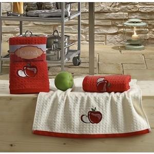 Набор кухонных полотенец Karna Lemon 45x65 2 штуки красный V1 (2229/CHAR001)