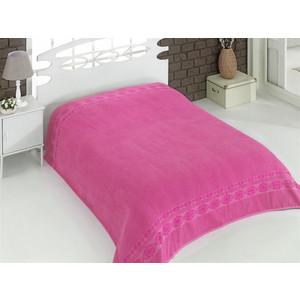 Простынь Karna махровая Rebeka 200x220 см розовый (2655/CHAR012)