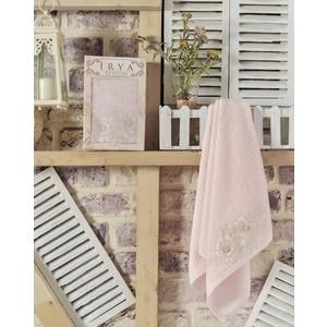 Полотенце Irya Romantic с гипюром 50x90 см розовый (2504/CHAR004) цена