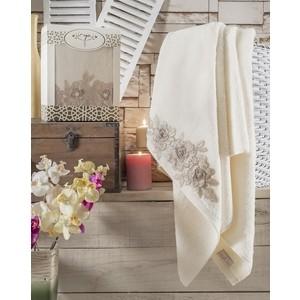 Полотенце Irya Romantic с гипюром 85x150 см молочный (2518/CHAR001)