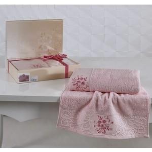 цена Набор из 2 полотенец Karna Viola (50X90/70x140) светло-розовый (1358/CHAR003) онлайн в 2017 году