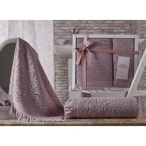 цена Набор из 2 полотенец Karna Esra (50X90/70x140) грязно-розовый (1687/CHAR003) онлайн в 2017 году
