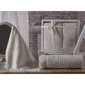 цена Набор из 2 полотенец Karna Esra (50X90/70x140) кремовый (1687/CHAR004) онлайн в 2017 году