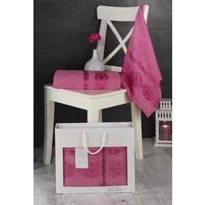 Набор из 2 полотенец Karna Rebeka (50X90/70x140) розовый (2660/CHAR012)