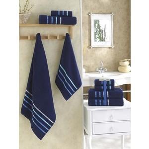 Набор из 4 полотенец Karna Bale (50x80-2/70x140-2) синий (953/CHAR020) набор полотенец karna bale 4 шт 953 char021