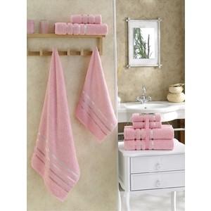 цена Набор из 4 полотенец Karna Bale (50x80-2/70x140-2) розовый (953/CHAR008) онлайн в 2017 году