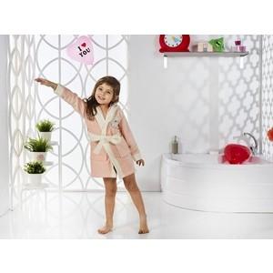 Халат детский Karna велюр с капюшоном Snop 2-3 Лет абрикосовый (2820/CHAR001) 3м 2820