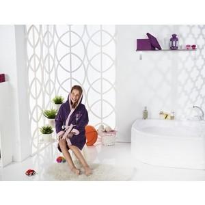 Халат подростковый Karna велюр с капюшоном Snop 10-11Лет фиолетовый (2824/CHAR005)