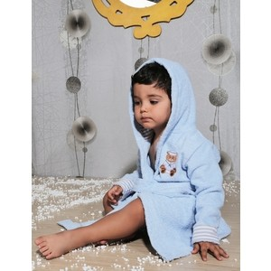 Халат детский Karna махровый с капюшоном Teeny голубой 2-3 Лет (912/1/CHAR001) детский халат karna teeny 2 3 года голубой