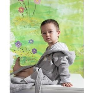 Халат детский Karna махровый с капюшоном Teeny серый 2-3 Лет (912/5/CHAR001) халат махровый actuel темно серый размер l