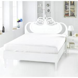 Простынь Karna сатин Servan 160x240 белый (220/9/CHAR006)