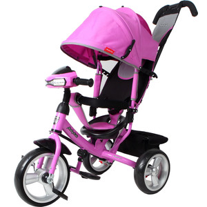 Велосипед 3-х колесный Moby Kids Comfort 12x10 EVA Car лиловый 641083