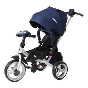 Велосипед 3-х колесный Moby Kids с разворотным сиденьем Leader 360° 12x10 EVA Car синий 641080