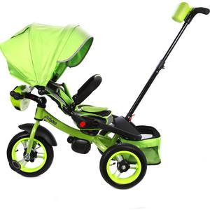 Велосипед 3-х колесный Moby Kids с разворотным сиденьем Leader 360° 12x10 AIR Car зеленый 641070