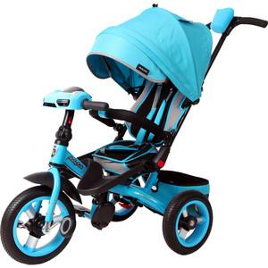Велосипед 3-х колесный Moby Kids с разворотным сиденьем Leader 360° 12x10 AIR Car бирюзовый 641072