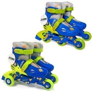 лучшая цена Роликовые коньки Moby Kids 2 в 1 р 26-29 сине-зеленый 641003