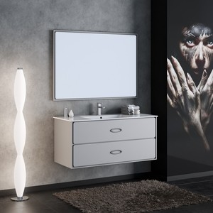 Мебель для ванной Smile Монтэ 120 светло-серый зеркало smile монтэ 90 светло серый z0000012243