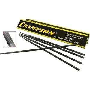 Напильники для заточки пильных цепей Champion 4.0мм 12шт (C8001)