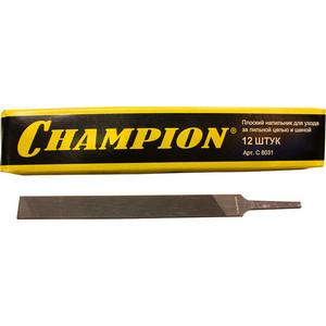 Напильник Champion плоский для заточки цепных пил 12шт (C8031) цена и фото