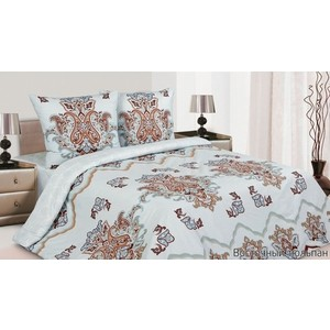 цена Комплект постельного белья Ecotex Евро, поплин, Восточный тюльпан (4650074953557) онлайн в 2017 году