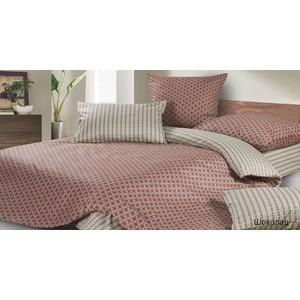 Комплект постельного белья Ecotex Евро, поплин, Шоколад (4650074953618)