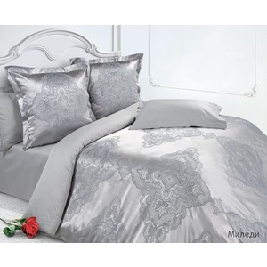 Комплект постельного белья Ecotex 2-х сп, сатин-жаккард, Миледи (4650074952451) одеяло 2 х сп розовое ameeka