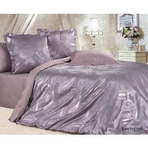 Комплект постельного белья Ecotex Евро, сатин-жаккард, Виктория (4607132579464)
