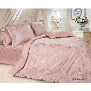 Комплект постельного белья Ecotex Евро, сатин-жаккард, Джульетта (4670016951458) комплект постельного белья ecotex евро сатин жаккард оливия кэечоливия